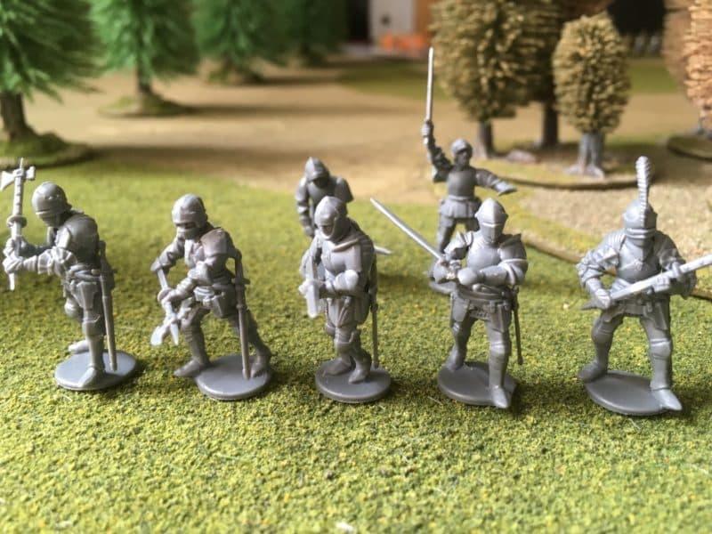 Foot Knights assembled