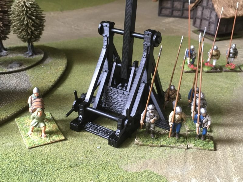 The Trebuchet is also primed and ready to be painted.
