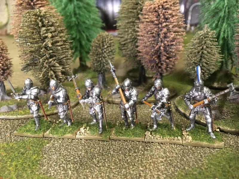 Foot knights ready for action!