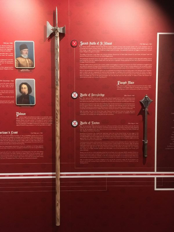 More weapons on display in the Battle Time line.