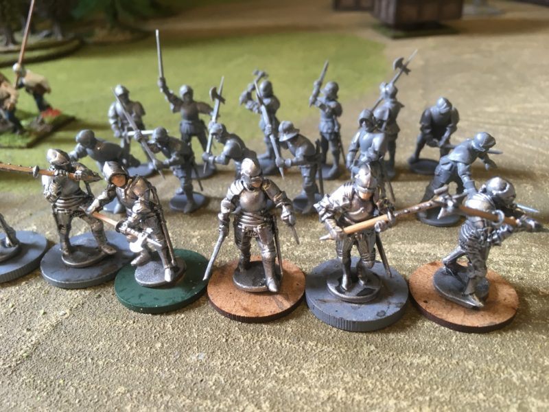 The final 6 foot knights in armour - just the detail to complete.