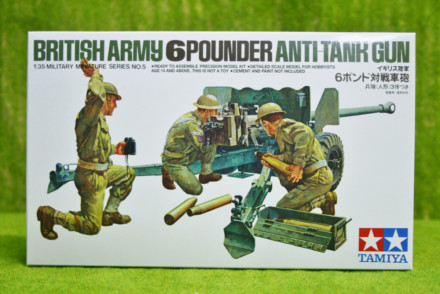 Tamiya WWII BRITISH ARMY 6 POUNDER ANTI TANK GUN 1/35 Scale Kit 35005