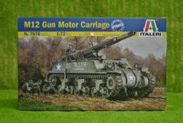 M12 GMC 1/72 Scale Italeri Military Kit 7076