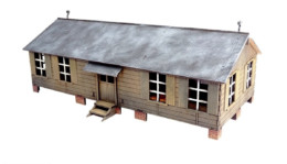 Guard Barracks and Office 28mm Laser cut MDF Building Terrain N058
