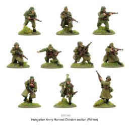 Hungarian Army WINTER Honved Division Section Bolt Action Warlord Games 28mm