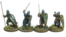 Armoured Norman Command Footsore Miniatures SAGA NOR007