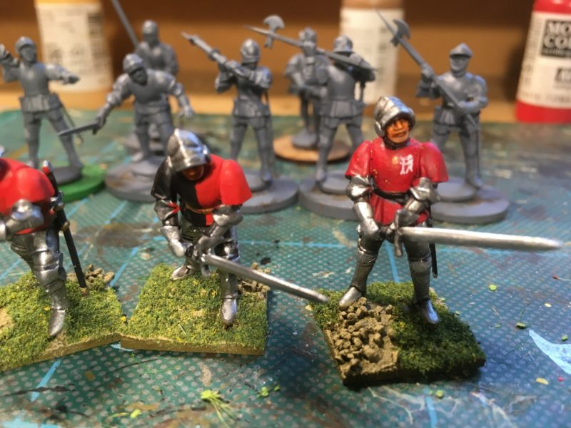 Tabards painted and figures based.
