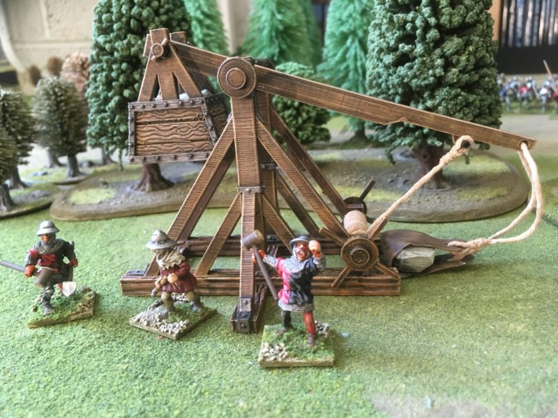 Life sometimes throws rocks! My attempt at Iron Gates Scenery Trebuchet.