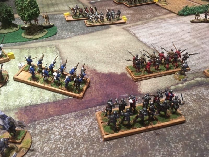 Captian Eric Diehard secures the right flank