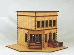 CITY BLOCK Corner Store 28mm MDF Building Sarissa Precision C023