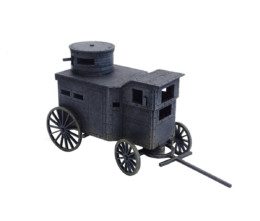 Old West / Armoured Stagecoach War Wagon 28mm scale D075 Sarissa Precision