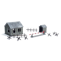Border Checkpoint Scenery Set N045 Laser Cut MDF 28mm