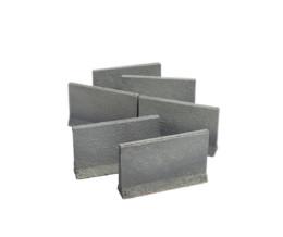 Concrete Traffic Barrier Set High (28mm) Sarissa Precision Q021