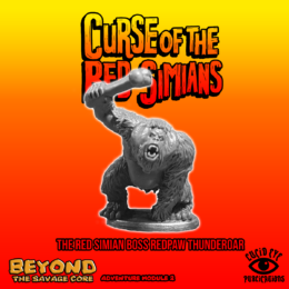 Lucid Eye RED PAW THUNDER ROAR Red Simian Boss Beyond the Savage Core 28mm REDSIMB