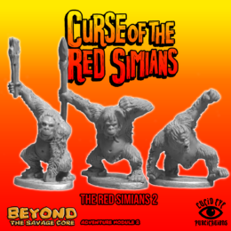 Lucid Eye RED SIMIANS pack 2 Beyond the Savage Core 28mm REDSIM2