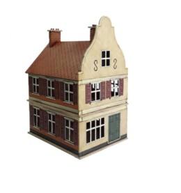 Dutch / Belgian Two Storey Shop 28mm MDF Building F013 Sarissa Precision