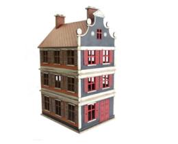 Dutch / Belgian Three Storey Townhouse 28mm MDF Building F014 Sarissa Precision