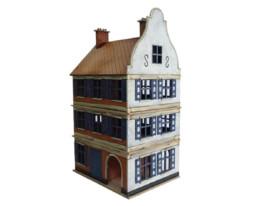 Dutch / Belgian Three Storey Townhouse 2 28mm MDF Building F015 Sarissa Precision