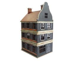 Dutch / Belgian Three Storey Shop 28mm MDF Building F016 Sarissa Precision