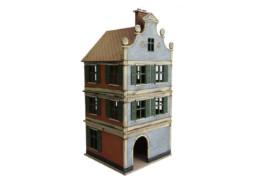 Dutch / Belgian Small Three Storey Townhouse 28mm MDF Building F020 Sarissa Precision