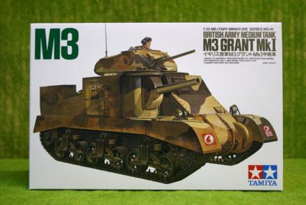 Tamiya M3 GRANT Mk I British Medium Tank 1/35 Scale Kit 35041