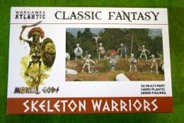 Mortal Gods SKELETON WARRIORS Wargames Atlantic Plastic Boxed Set 28mm