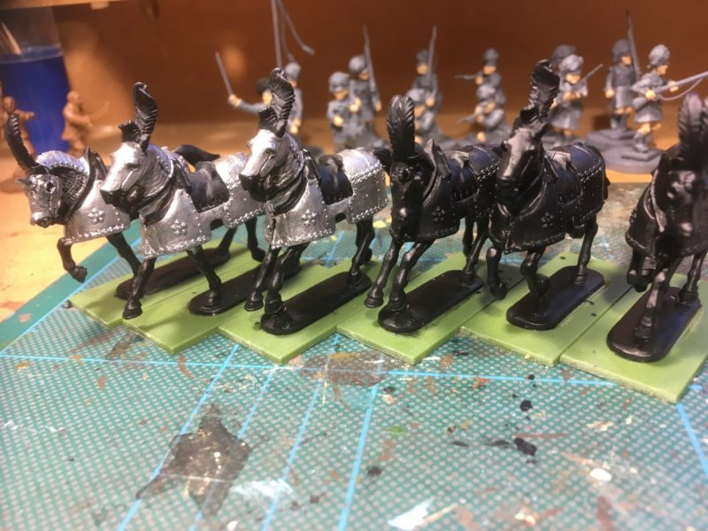 Horses primed ready to paint