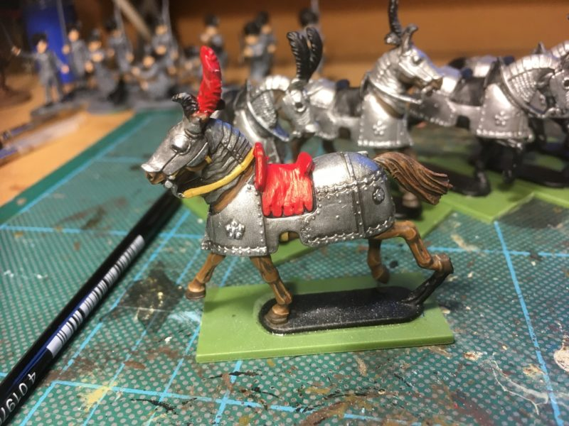 Horse flesh done, stating to block in the details.
