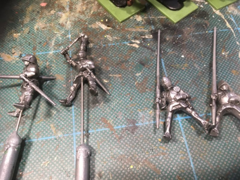 Knights after dry brushing