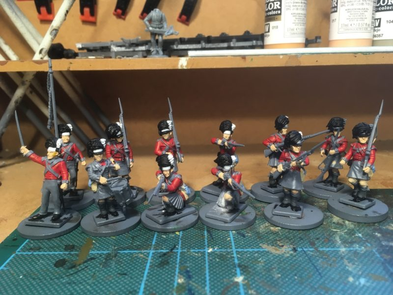 Batch painting highlanders