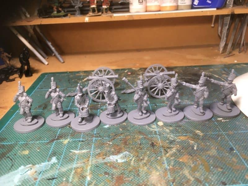 Portuguese Artillery - primed!
