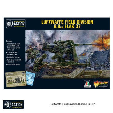 Luftwaffe Field Division 8.8cm FLAK 37 Bolt Action Warlord Games 28mm