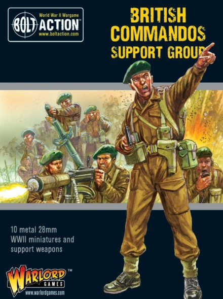 COMMANDOS SUPPORT GROUP Bolt Action Warlord Games 28mm