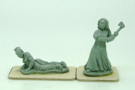 Trent Miniatures The Formidable MRS MERRILL and House Guest! NA03 28mm