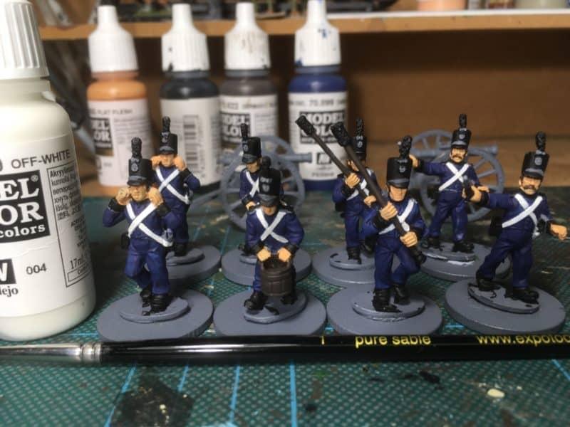 Potuguese Artillery - white belts
