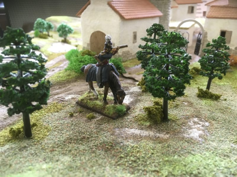 British Exploring Officer scouts the terrain!