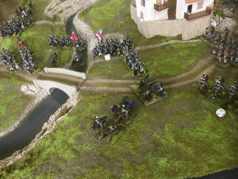 Portuguese cross the river but are caught in march column.