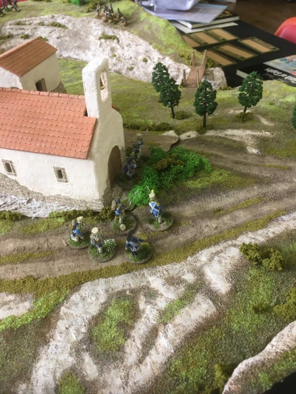 French Voltiguers secure the village.