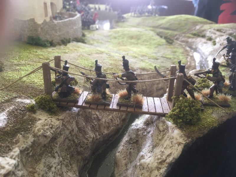 Cacadores reach the bridge