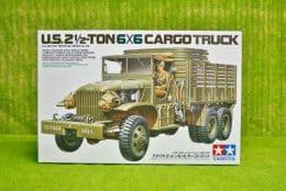Tamiya U.S. 2 Half Ton 6 x6 Cargo Truck 1/35 Scale Kit 35218