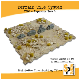 TERRAIN TILE SYSTEM EXPANSION PACK 1 TT02 3mm MDF Sarissa Precision Interlocking Tiles