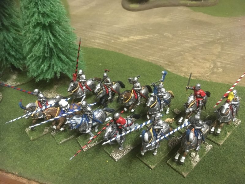 Mounted Footknights ready for action.