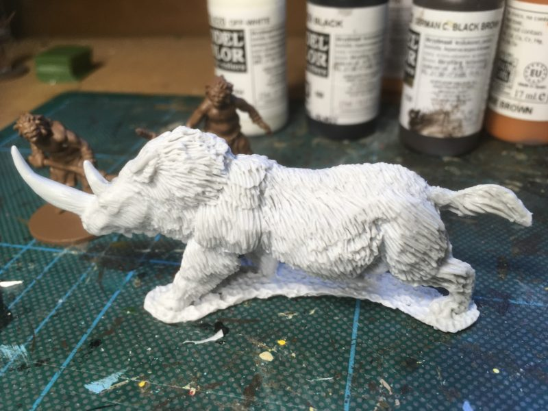 DZ08 Whoolly Rhino Charging - now in resin