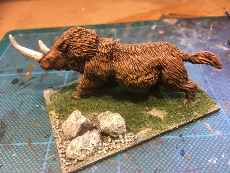 Grass added to the base