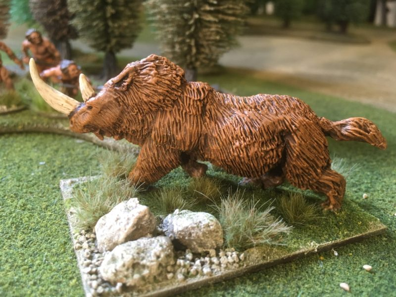 Woolly Rhino completed and based.