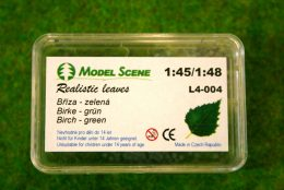 Model Scene BIRCH TREE LEAVES Green Laser cut leaves O scale 1:48 Scale L4-004