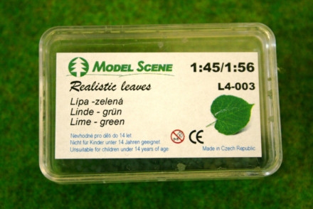 Model Scene LIME TREE LEAVES Green Laser cut leaves O scale 1:48 Scale L4-003