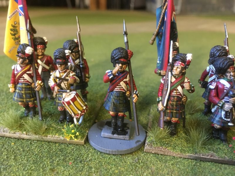 Black Watch Sergeant next to the Caerons and Gordons.