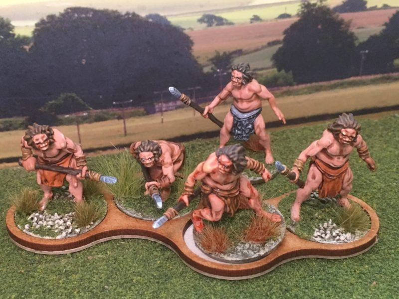 DeeZee Cavemen - sculpted by Matt Sofar of knuckle bones miniatures.