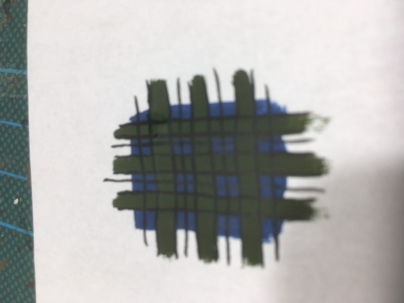 cross hatch through the blue squares